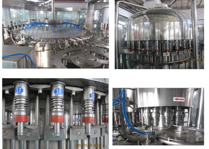 PLC Control Bottled Water Filling Line With Automatic Cap Lifting System