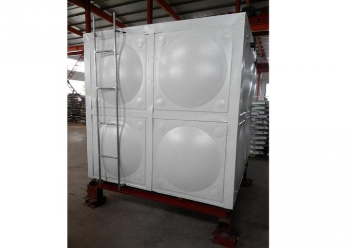 Colored Steel Water Storage Tanks , 50mm Polyurethane Thermal Water Tank