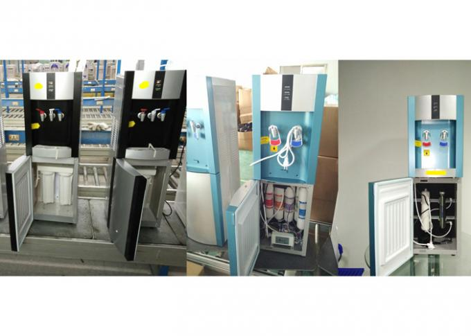Free - Standing Purified Water  Compressor  Cooling water Cooler With 3 Taps