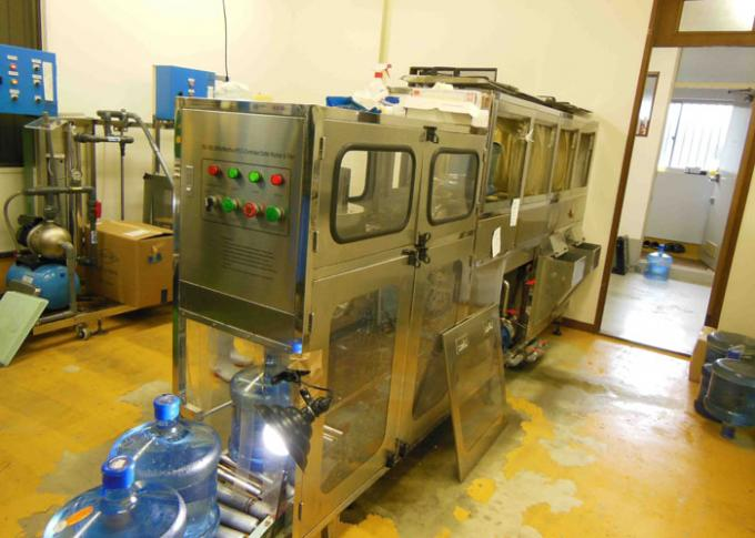 100BPH 5 Gallon Water Bottling Line With Bottle Rinser / Filler / Capper 0