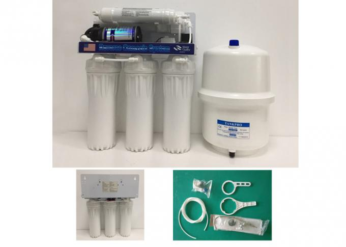 50GPD RO-50 5 Stage Reverse Osmosis Water Filter With 3.2G Steel Pressure Tank