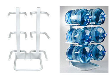 6 Bottled / 5Gallon Water Bottle Rack With Solid Steel Construction Demountable Type