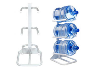 China Carbon Steel Luxury Water Bottle Rack For 3 Bottles / 5 Gallon Bottled Water supplier