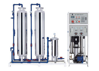 China 450LPH 2 Stage RO Water Treatment Equipment With Water Softener supplier