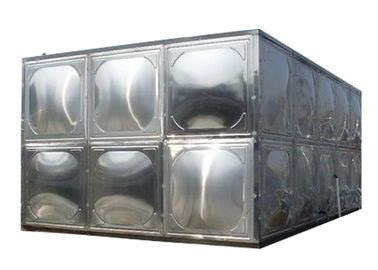 China 304 Stainless Steel Water Storage Tanks With Stainless Steel Mounting Panel supplier