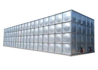 China Galvanized Steel Water Storage Tanks , Rust Proof Screw Mounting Fire Water Tank supplier