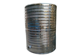 Cylinder Shape Water Storage Tanks , Vertical Stainless Steel Water Tank